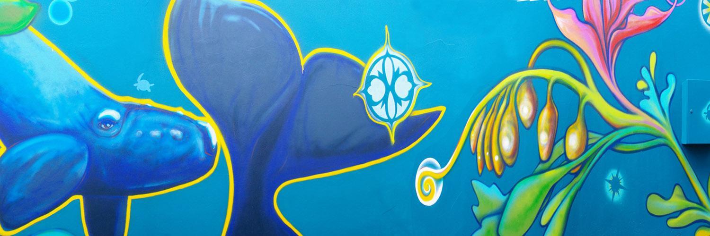 Laneway Whale Mural